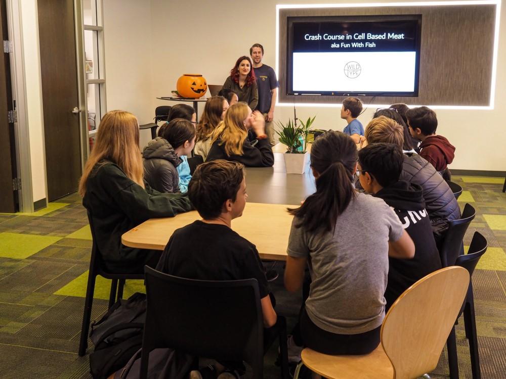 School class watching a presentation