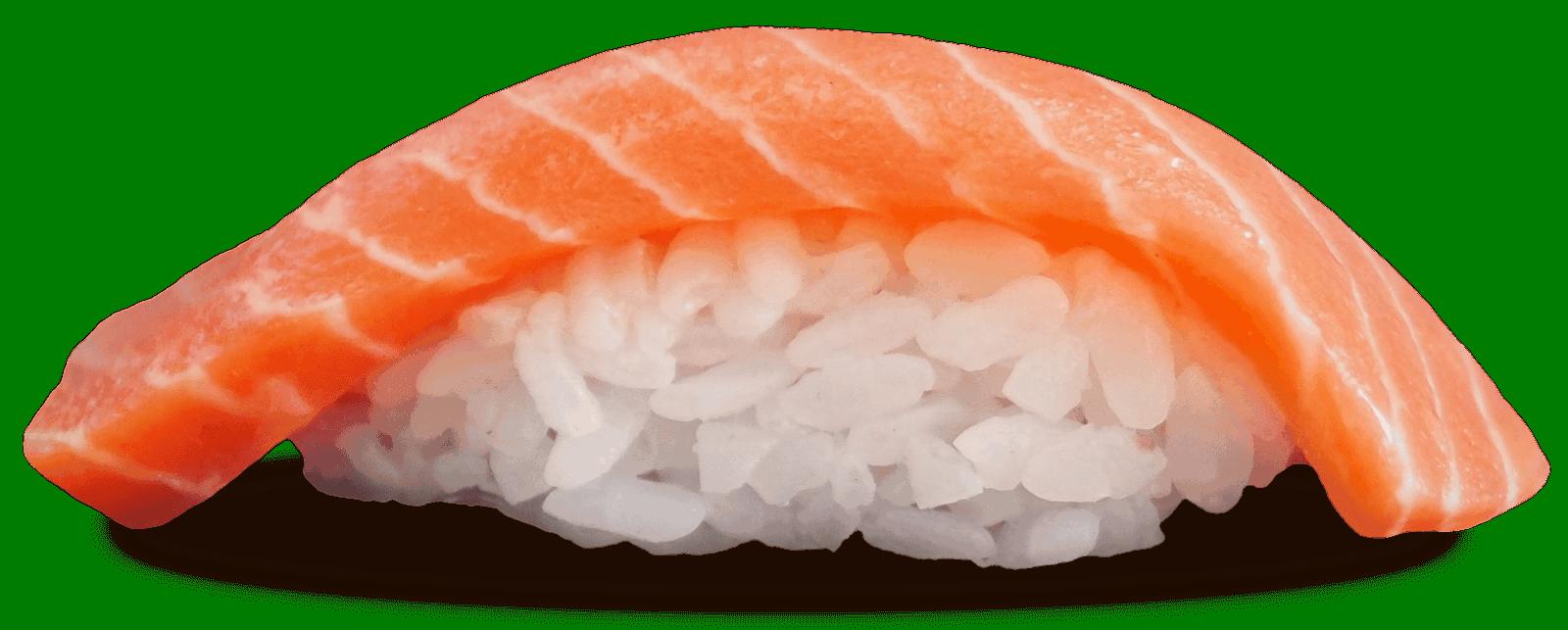 Salmon nigiri close up